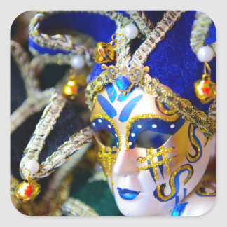 Carnival Masquerade Masks in Venice Italy Square Sticker
