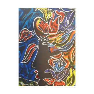 Carnival Masquerader Profile painting canvas