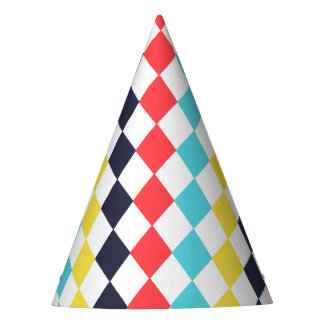 Carnival Multi Diamond Party Hat