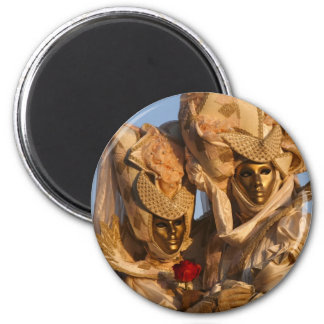 Carnival of Venice 4 6 Cm Round Magnet