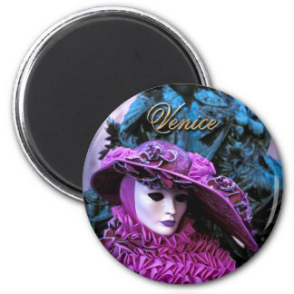 Carnival of Venice 6 Cm Round Magnet