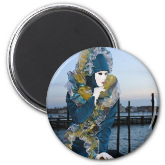 Carnival of Venice 6 6 Cm Round Magnet