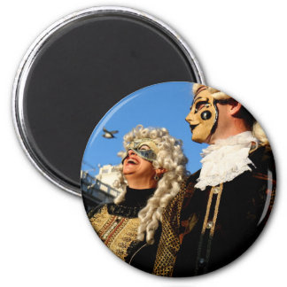 Carnival of Venice 7 6 Cm Round Magnet