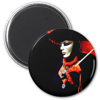 Carnival of Venice 8 6 Cm Round Magnet