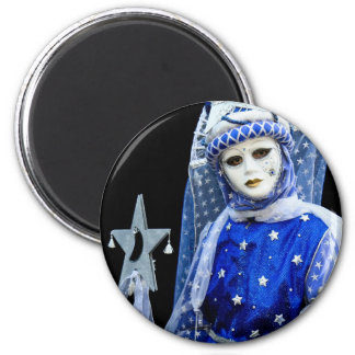 Carnival of Venice 9 6 Cm Round Magnet