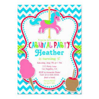 Carnival Party Carousel Horse Birthday Invitation