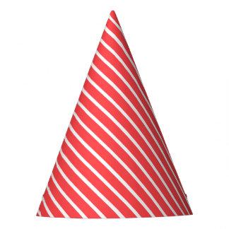 Carnival Red Diagonal Stripe Party Hat