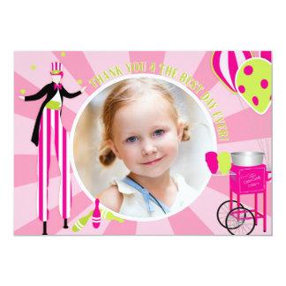 Carnival Stilt Walker & Cotton Candy Thank You 1 Card