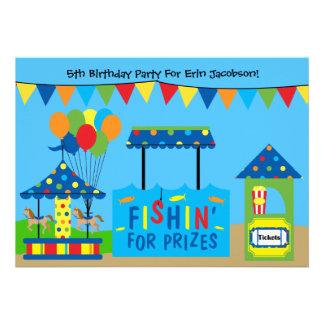 Carnival Theme Birthday Party Invitation