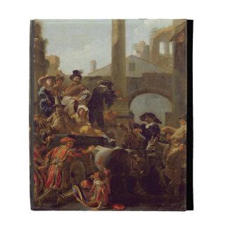 Carnival Time in Rome, 1653 (oil on canvas) iPad Folio Case
