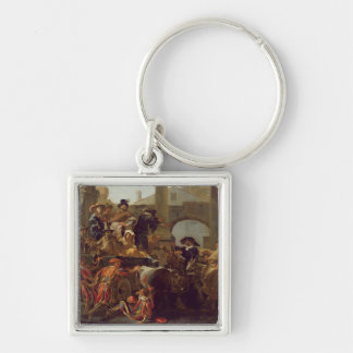Carnival Time in Rome, 1653 (oil on canvas) Key Chain