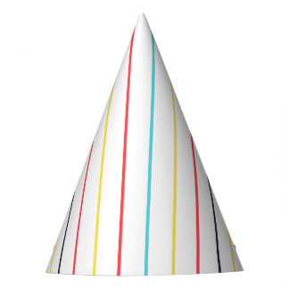 Carnival Vertical Thin Multi Stripes Party Hat