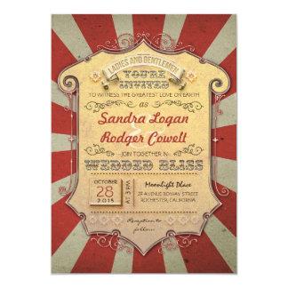 "carnival wedding invitations 5"" x 7"" invitation card"