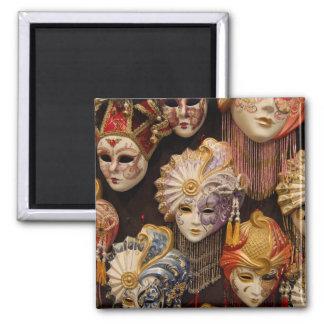 Carnivale Masks in Venice Italy Square Magnet