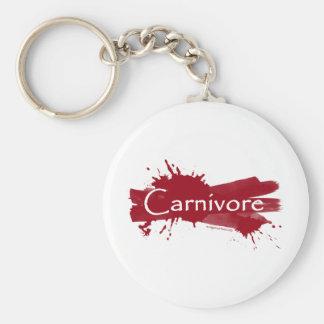 carnivore blood splatter basic round button key ring