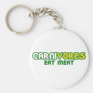 Carnivores Eat Meat Funny Parody Basic Round Button Key Ring