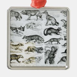 Carnivorous Animals Christmas Tree Ornament