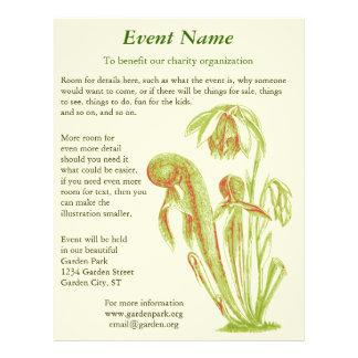 Carnivorous Plant Botanical Art Flyers