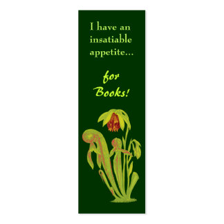 Carnivorous Plant Mini Bookmark Pack Of Skinny Business Cards