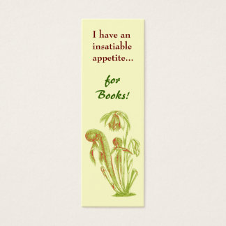 Carnivorous Plant Mini-Bookmark Mini Business Card