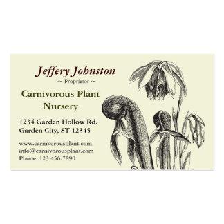 Carnivorous Plant Nursery Business Cards