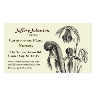 Carnivorous Plant Nursery Pack Of Standard Business Cards