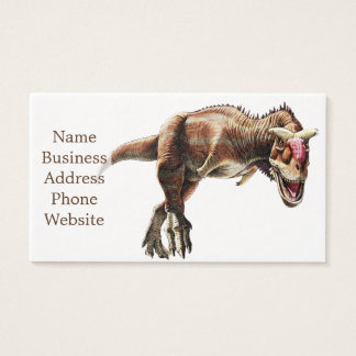 Carnotaurus Gift Awesome Carnivorous Dinosaur Business Card