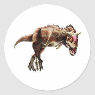 Carnotaurus Gift Awesome Carnivorous Dinosaur Classic Round Sticker
