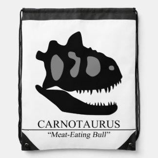 Carnotaurus Skull Drawstring Bag