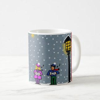 carol singers christmas mug