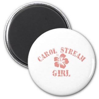 Carol Stream Pink Girl Magnet