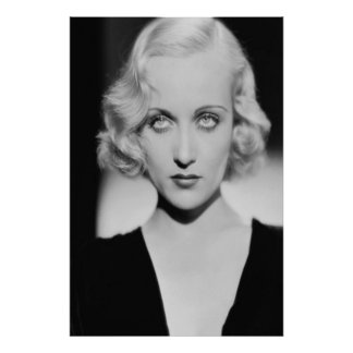Carole Lombard Eyes Poster