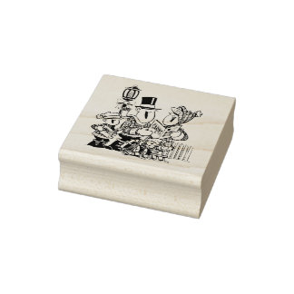 Carolers Christmas Rubber Stamp