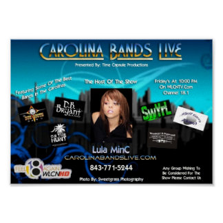 Carolina Bands Poster