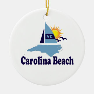 Carolina Beach. Ceramic Ornament