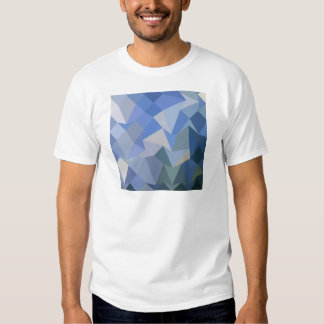 Carolina Blue Abstract Low Polygon Background T Shirts