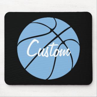 Carolina Blue Custom Team Name Basketball Mousepad