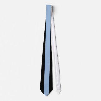 Carolina Blue Vertical Stripe on Black Tie