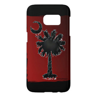 Carolina Designer Galaxy S7 Palmetto Red/Black