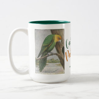 Carolina Parakeet Now Extinct Two-Tone Coffee Mug