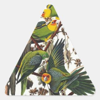Carolina Parrot - John James Audubon (1827-1838) Triangle Sticker