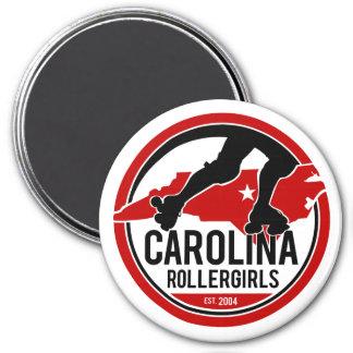 Carolina Rollergirls round magnet