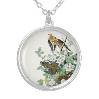 Carolina Turtle Dove, Birds of America by John Jam Silver Plated Necklace
