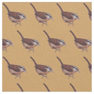 Carolina Wren Bird Art Fabric
