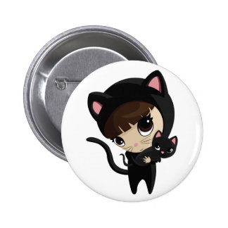 Caroline and Candy the Cats 6 Cm Round Badge