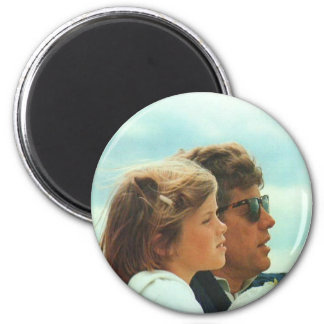 Caroline and John F. Kennedy Magnet
