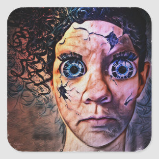 Caroline Doll Chuckys Cousin by #artfuloasis Square Sticker