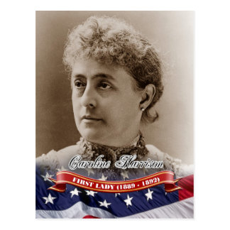 Caroline Harrison, First Lady of the U.S. Postcard