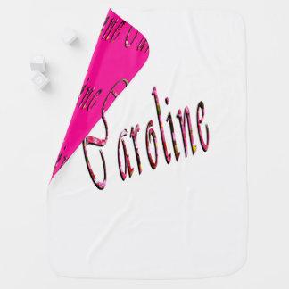 Caroline, Name, Logo, Reversible Baby Blanket. Baby Blanket