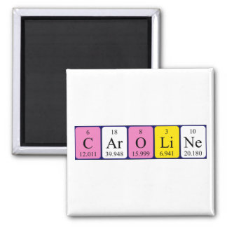Caroline periodic table name magnet